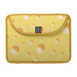 Textura amarilla del queso suizo fundas macbook pro