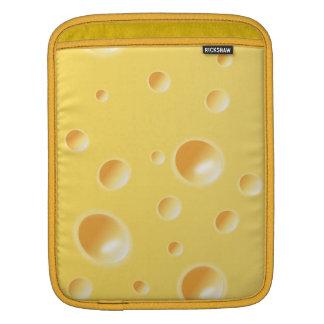 Textura amarilla del queso suizo mangas de iPad