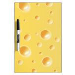 Textura amarilla del queso suizo pizarras blancas de calidad