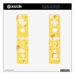 Textura amarilla del queso suizo skins para mandos de wii