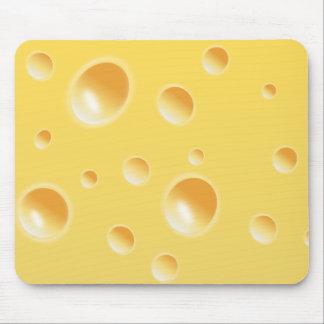 Textura amarilla del queso suizo tapete de ratón
