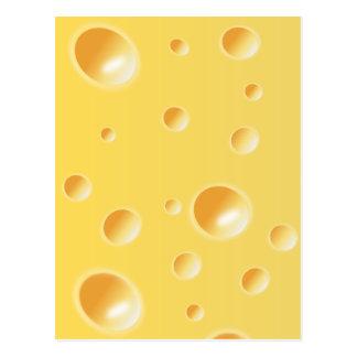Textura amarilla del queso suizo postal
