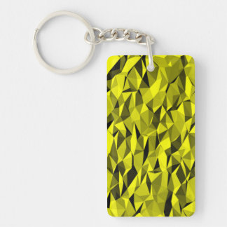 textura amarilla llavero rectangular acrílico a doble cara