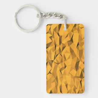 Textura anaranjada llavero rectangular acrílico a doble cara