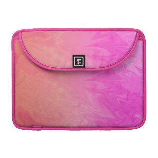 Textura anaranjada rosada colorida funda macbook pro
