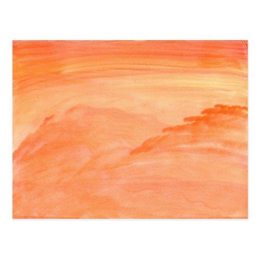 Textura anaranjada tarjetas postales