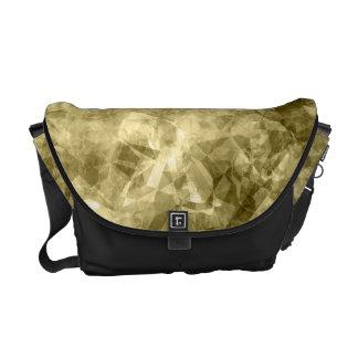 Textura arrugada bronce bolsa messenger