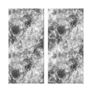 Textura arrugada carbón de leña impresión en lienzo