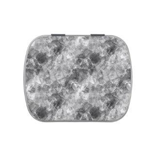 Textura arrugada carbón de leña jarrones de dulces