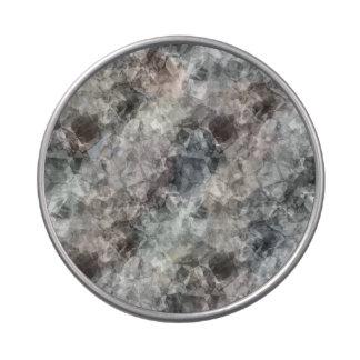 Textura arrugada carbón de leña latas de caramelos
