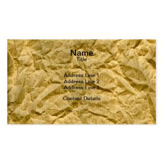 Textura arrugada del papel de Kraft Plantilla De Tarjeta Personal