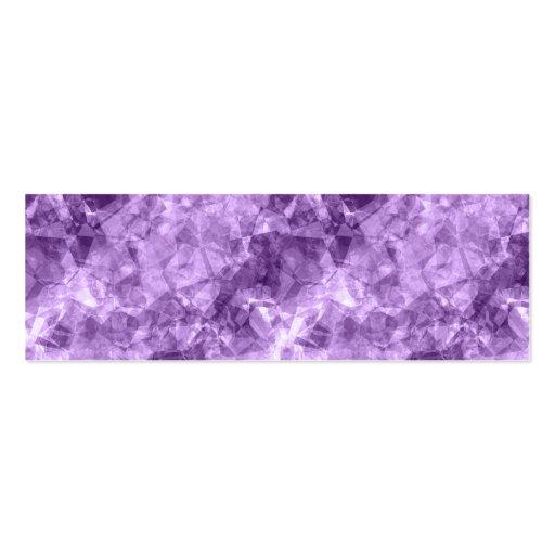 Textura arrugada púrpura oscura tarjetas de visita mini