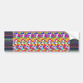 Textura artística de los pattens de la mariposa etiqueta de parachoque