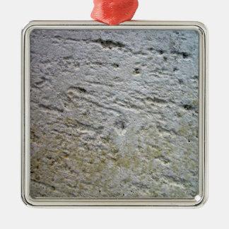 Textura aserrada de la piedra caliza con la sombra ornamento de reyes magos