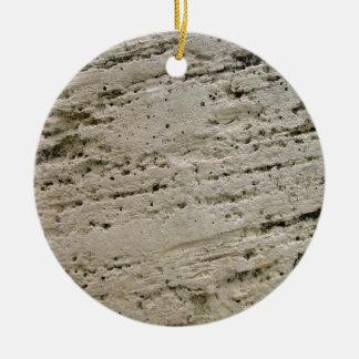 Textura aserrada de la piedra caliza ornamento para arbol de navidad