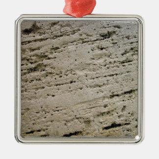 Textura aserrada de la piedra caliza ornamento de navidad