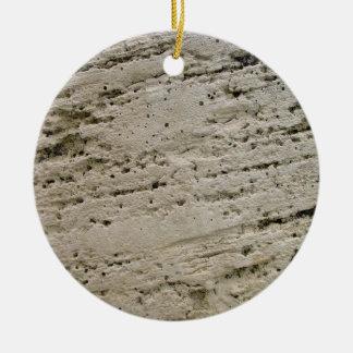 Textura aserrada de la piedra caliza ornaments para arbol de navidad