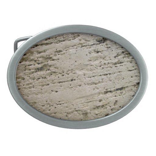 Textura aserrada de la piedra caliza hebilla cinturon oval