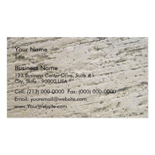 Textura aserrada de la piedra caliza tarjetas de visita