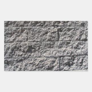 Textura áspera de la pared de piedra rectangular pegatina
