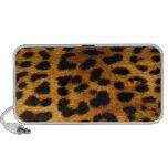 Textura auténtica de la piel del leopardo altavoces de viajar