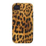 Textura auténtica de la piel del leopardo iPhone 4/4S fundas