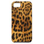 Textura auténtica de la piel del leopardo iPhone 5 carcasas