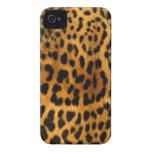 Textura auténtica de la piel del leopardo iPhone 4 Case-Mate cobertura
