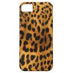Textura auténtica de la piel del leopardo iPhone 5 cárcasa