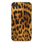 Textura auténtica de la piel del leopardo iPhone 4 protector