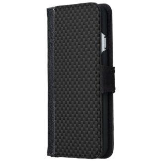 Textura automotriz de la impresión negra de la funda cartera para iPhone 6