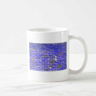 Textura azul brillante de la pared de ladrillo del