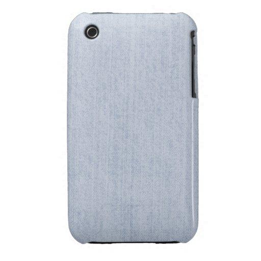 Textura azul clara de la tela de felpilla iPhone 3 Case-Mate carcasas