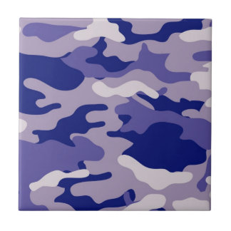 Textura azul de Camo del camuflaje Azulejo Cuadrado Pequeño
