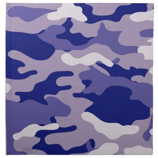 Textura azul de Camo del camuflaje Servilleta