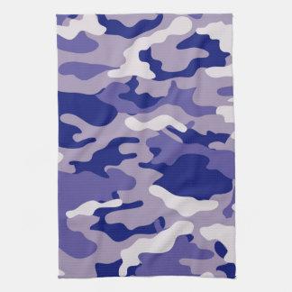 Textura azul de Camo del camuflaje Toalla De Mano