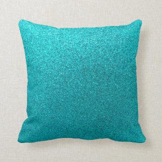 Textura azul de la chispa del fondo del brillo del cojín