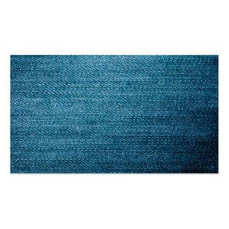 Textura azul de los vaqueros del dril de algodón tarjetas de visita