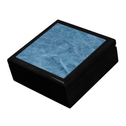 Textura azul del ante cajas de joyas