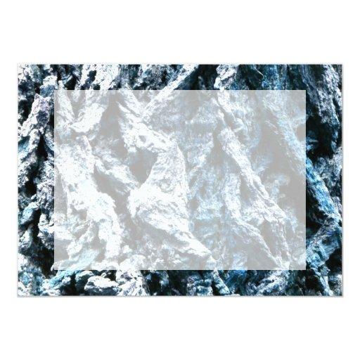 """Textura azul del fondo del tinte de la corteza de invitación 5"""" x 7"""""""