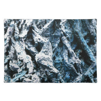 Textura azul del fondo del tinte de la corteza de  manteles individuales