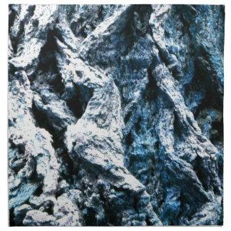 Textura azul del fondo del tinte de la corteza de  servilletas imprimidas