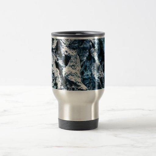 Textura azul del fondo del tinte de la corteza de  taza de café