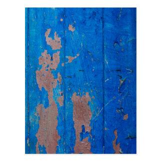 Textura azul del Grunge de la diversión Tarjetas Postales