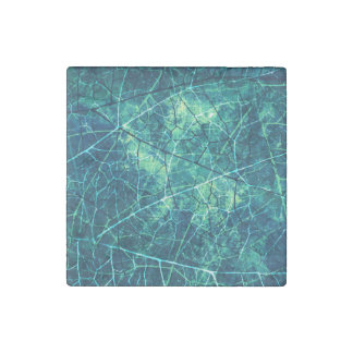 Textura azul del Grunge de la laca del crujido de Imán De Piedra