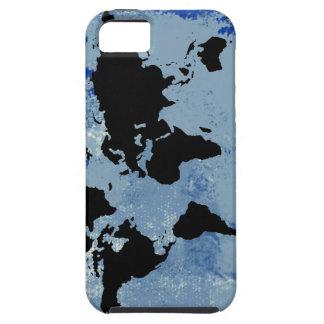 textura azul del mapa del mundo iPhone 5 Case-Mate protector