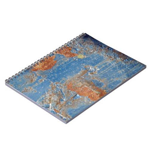 Textura azul del metal del moho libros de apuntes