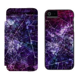 Textura azul rosada púrpura del Grunge de la laca Funda Billetera Para iPhone 5 Watson