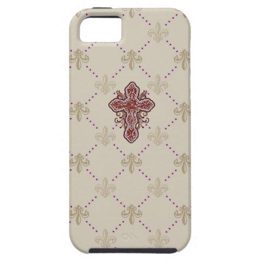 Textura barroca del estilo el # 11% el pipe% iPhone 5 Case-Mate protectores