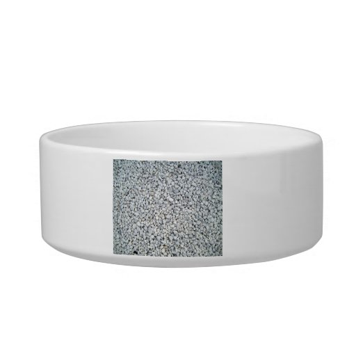 Textura blanca de las piedras del guijarro tazones para gatos